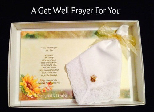 A Get Well Prayer For You Hankie & Angel Pin Gift Set