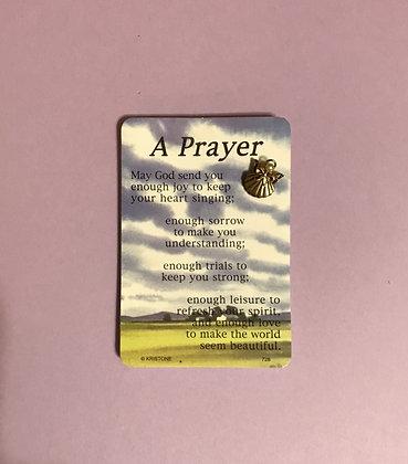 A Prayer Angel Pin & Poem Card Set #112