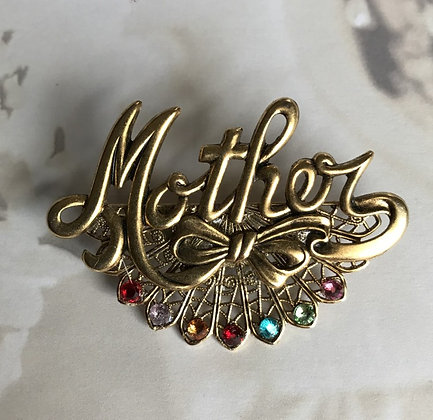 Mother Birthstone Pin (7 stones) #900
