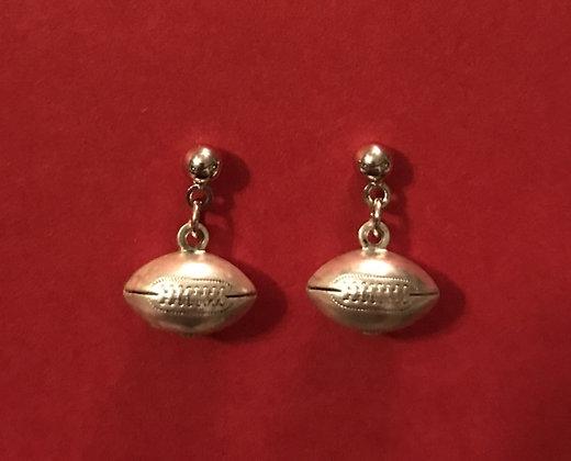 Small Football Earrings