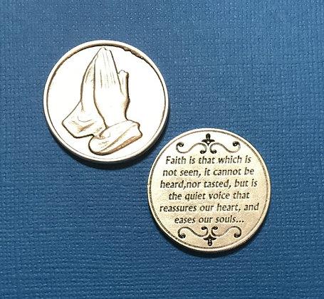 Faith Praying Hands Pocket Token