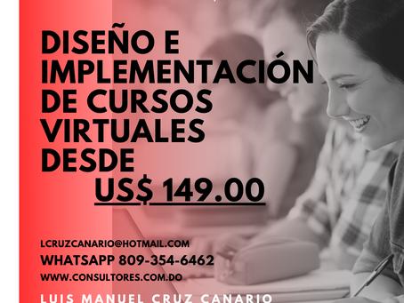 Diseño e Implementación de Cursos Virtuales desde US$ 149.00
