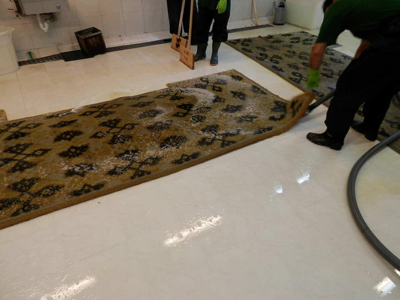 limpieza alfombras seda