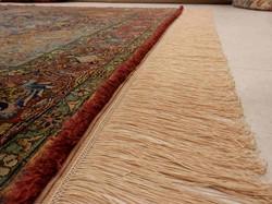 restauración alfombras flecos