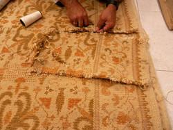 restauración alfombras orientales