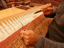 Restauración de alfombras persas