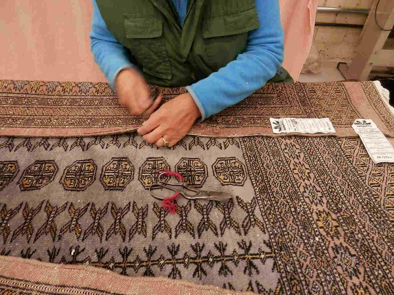 Restauración de alfombras rotas