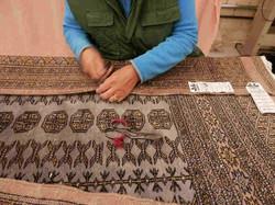 restauración alfombras pakistanies