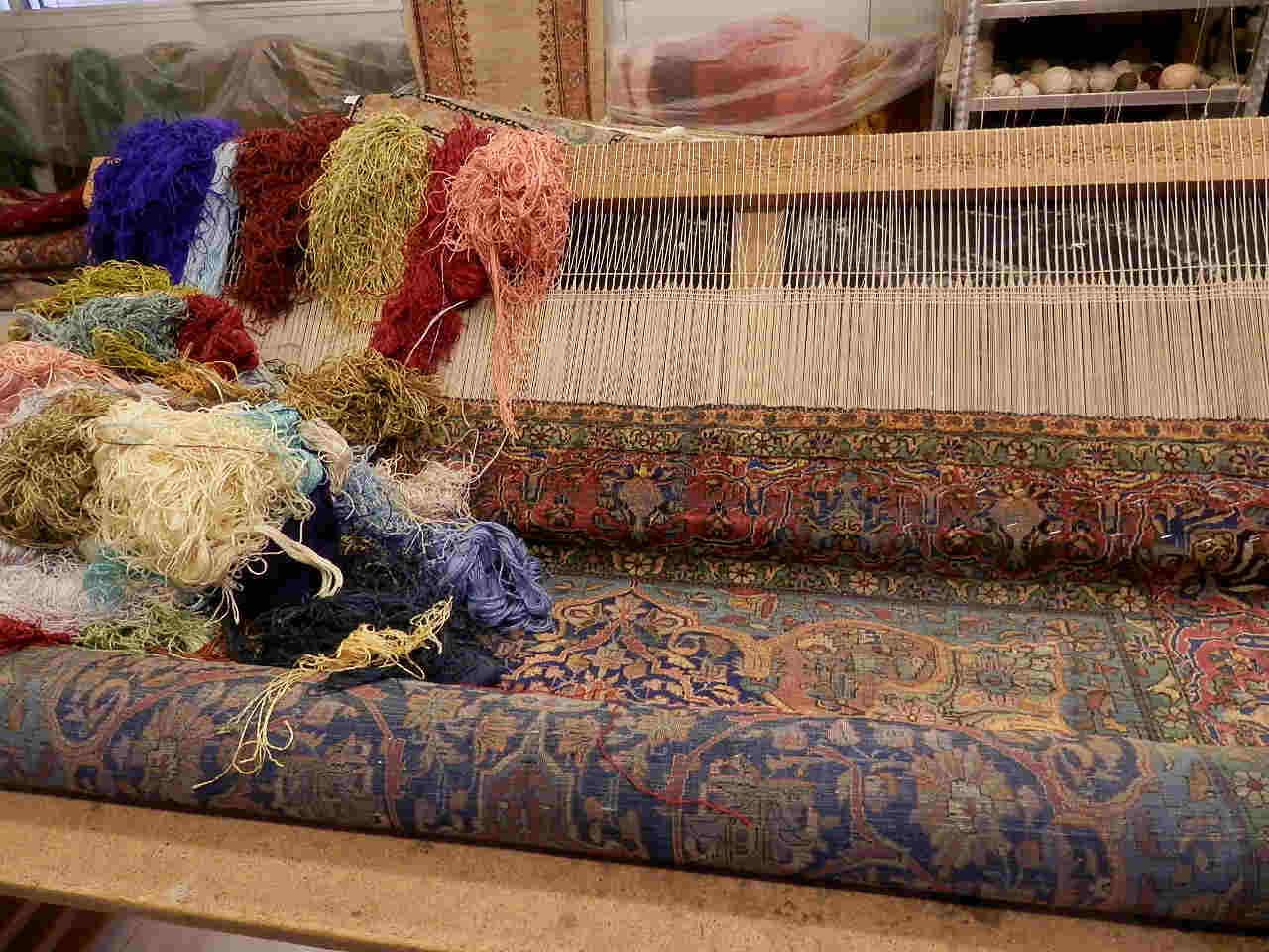 Restauración flecos de las alfombras