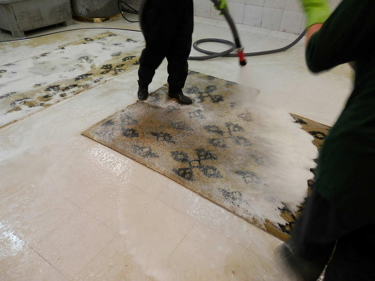 limpieza alfombras lana seda