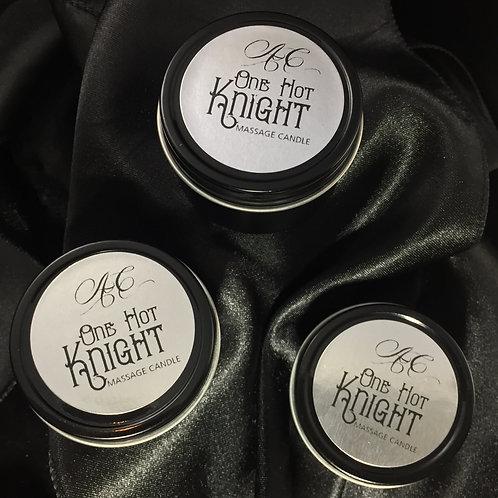 One HOT Knight Massage Travel Candle