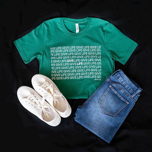 Give Life T-shirt (Green)