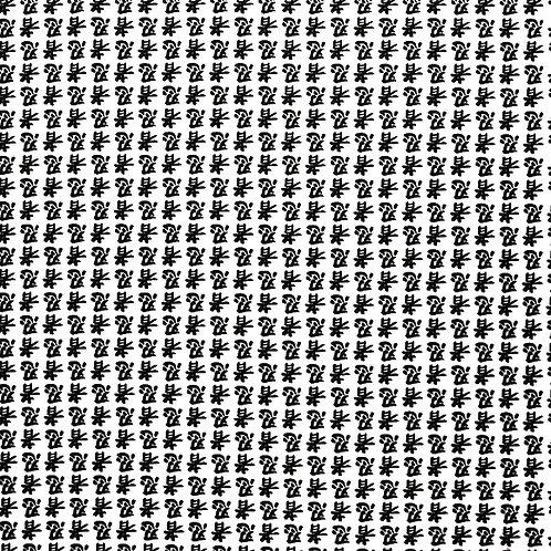 Black Kanji on White