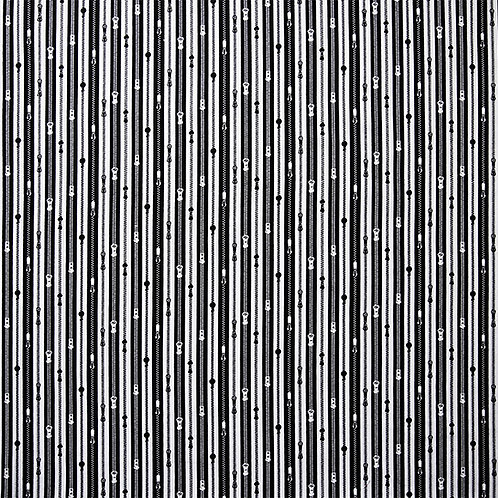 Black and White Zips