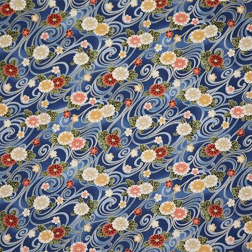 Blue Floral Swirls