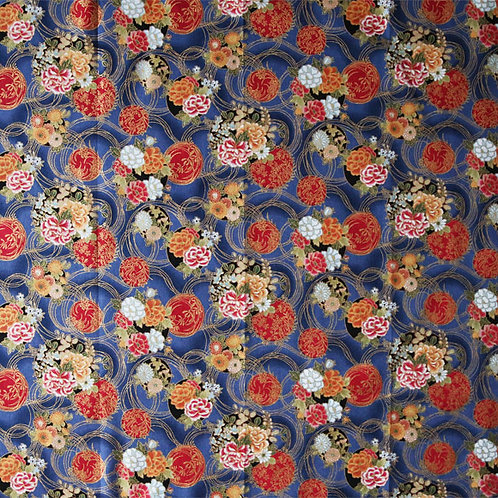 Blue and Red Floral Circles