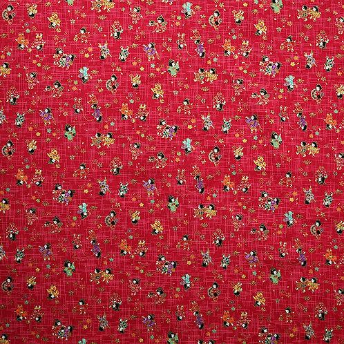 QH Mini Geisha Multi Strawberry Red