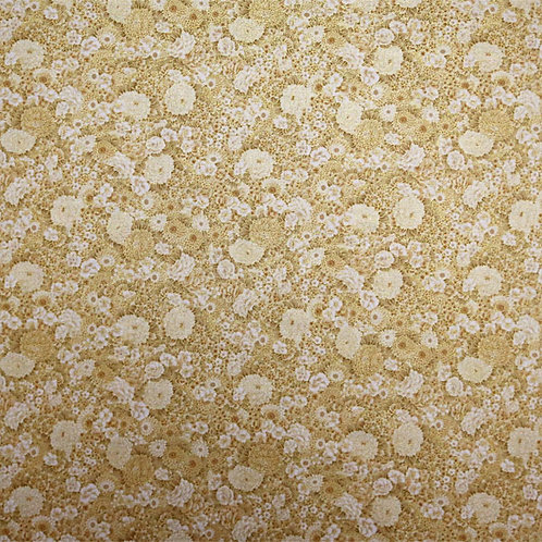 Gold Flowers on Cream