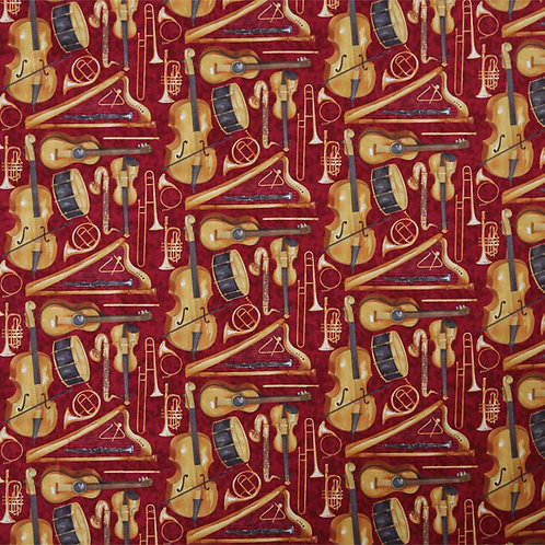 Musical Instruments Maroon
