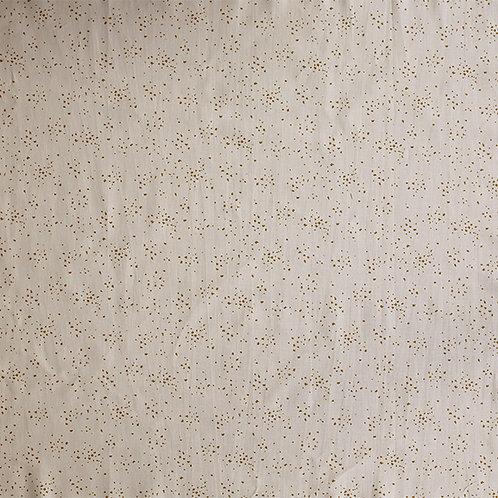 Japanese Garden - Gold Fleck on White