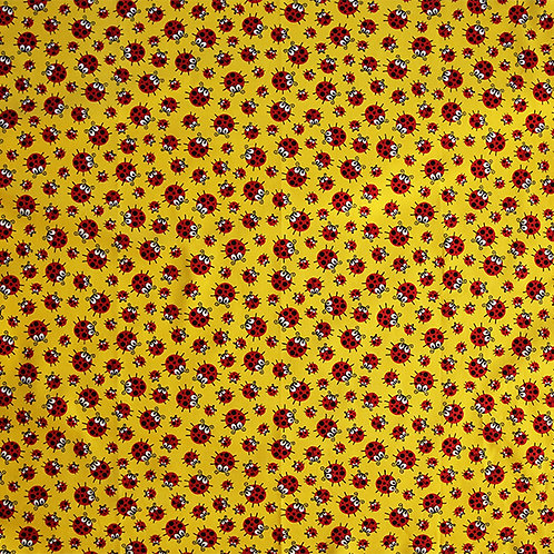 Lady Bugs on Yellow