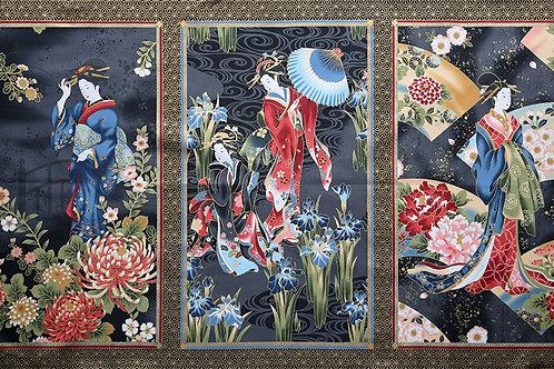 Triple Geisha Panel