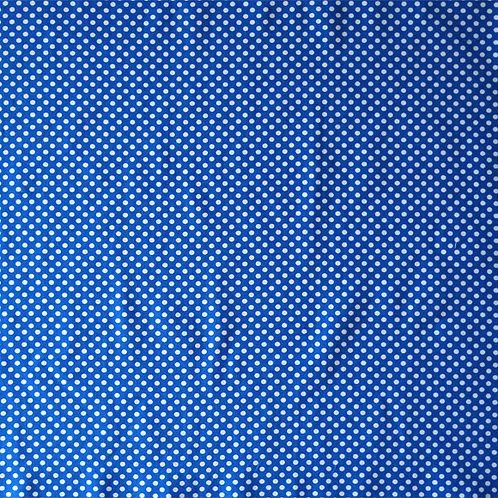 Blue White Polka Dots