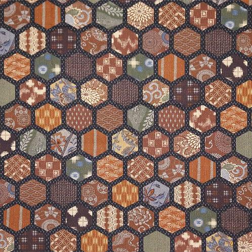 Large Tan Hexagons