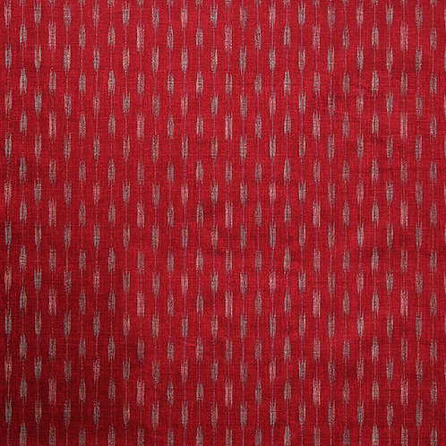 QH Printed Dobby Dark Red