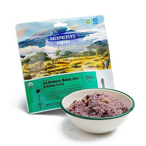 Organic Blueberry Walnut Oatmeal w/ Hemp and Quinoa