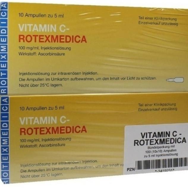 Vitamin C ampules