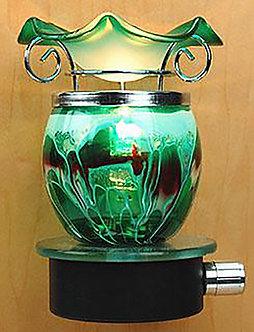 Plug-In Oil Warmer: Glass Ball (Emerald Wave)