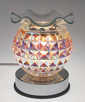 Iridescent Crystal Diamond Touch Oil Warmer