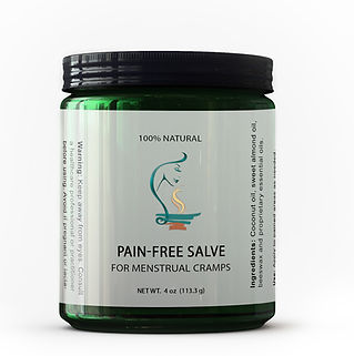 therapeutic pain-free salve, organic salve for menstrual cramps