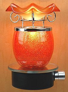 Plug-In Oil Warmer: Orange Sun