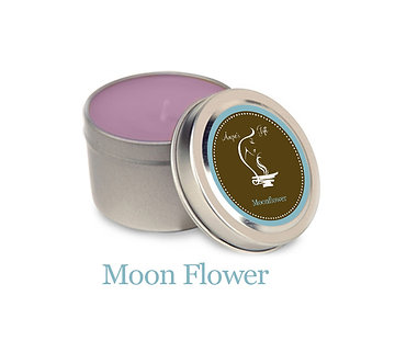 Container Candle -Moon Flower