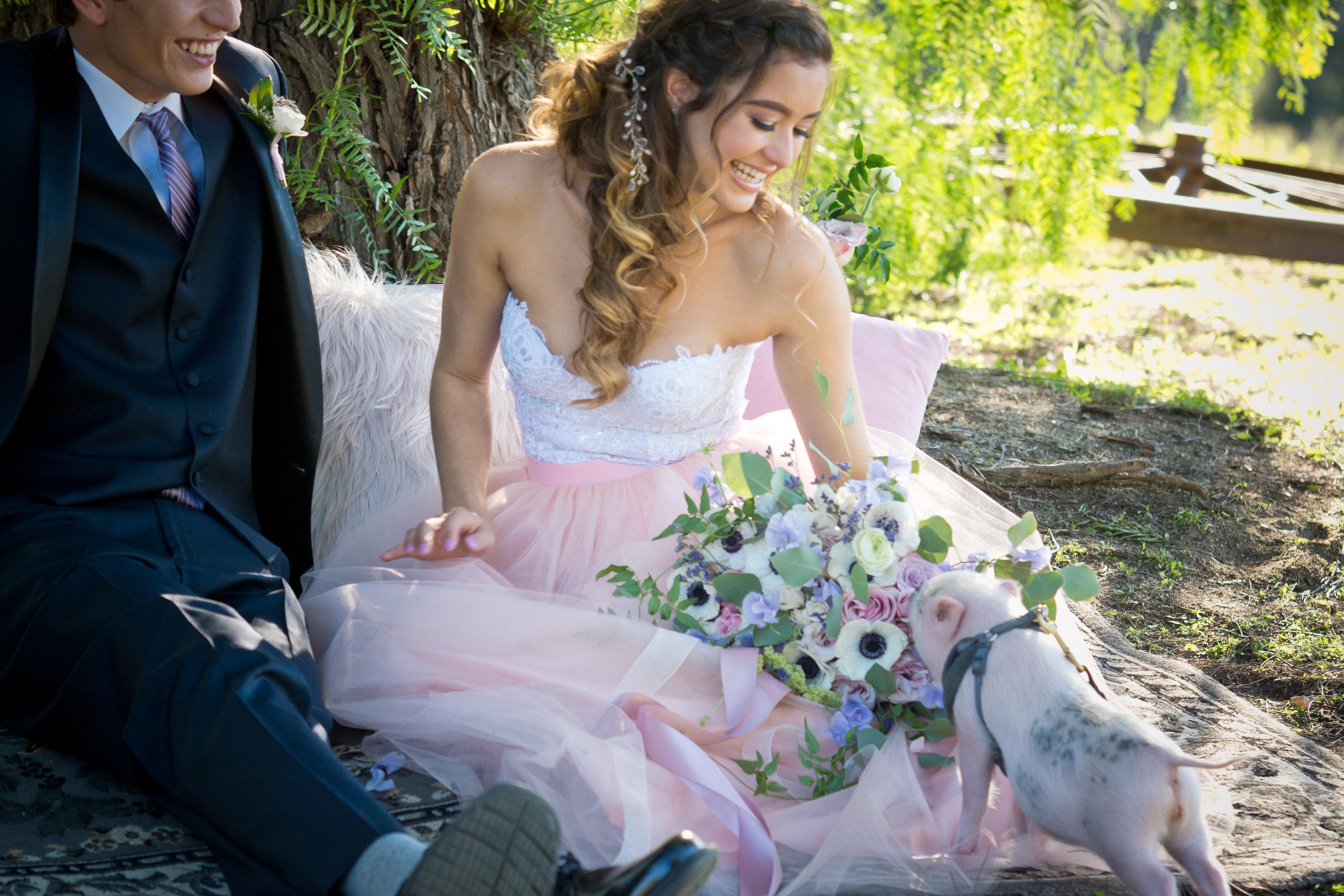 Romantic bridal Hair Makeup