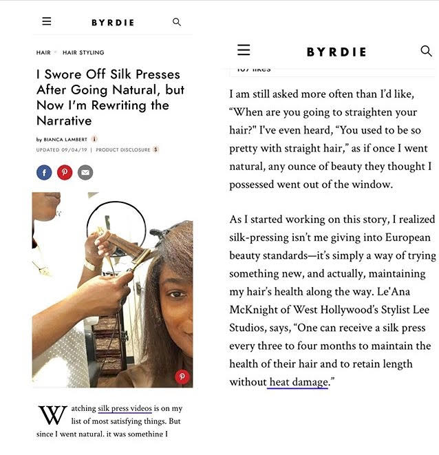Interview with Byrdie Beauty