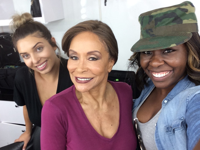 Celebrity Hairstylist LeAna Mcknight with Freda Payne