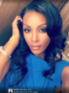Dawn Richard wearing a custom hair piece by Celebrity LeAna Mcknight using SL Raw Virgin Hair