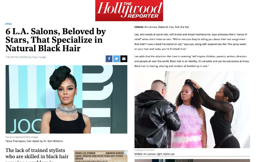 Hollywood Report Article Blog Stylist Le
