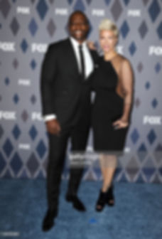Rebecca Crews short hair by Leana Mcknight Fox TCA Red carpet