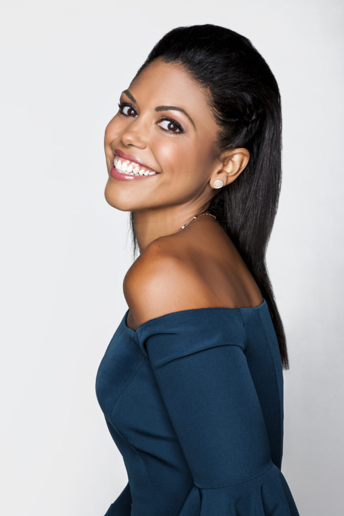 Karla Mosley Sleek braid side style