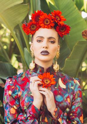 Frieda Kahlo Inspired braid hairstyle by LeAna Mcknight