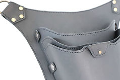 Leather hairstylist holster for organizing hair tools