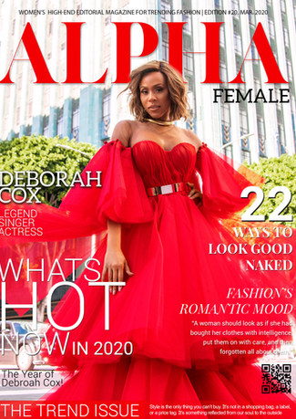 Deborah Cox with ALPHA Magazine