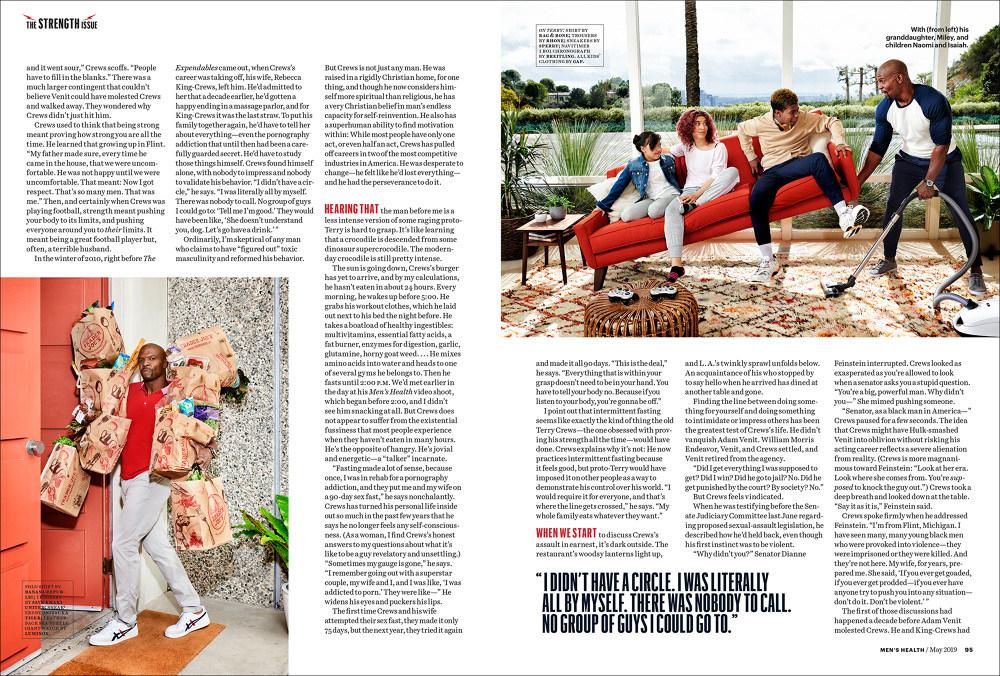 Terry Crews & Kids Men health Magazine