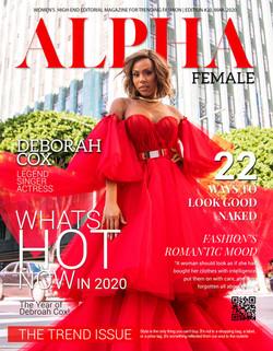 Deborah Cox March issue of ALPHA Mag