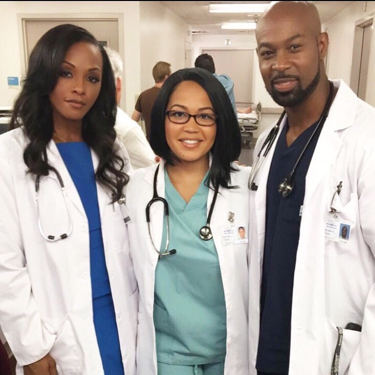 Bts with Dawn Richards and Darrin Henson