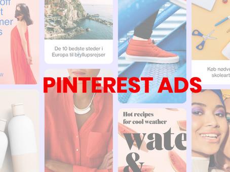 Pinterest annoncering og kanalens muligheder